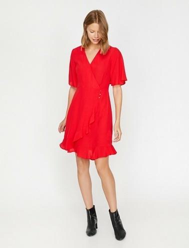 Koton Elbise Kırmızı